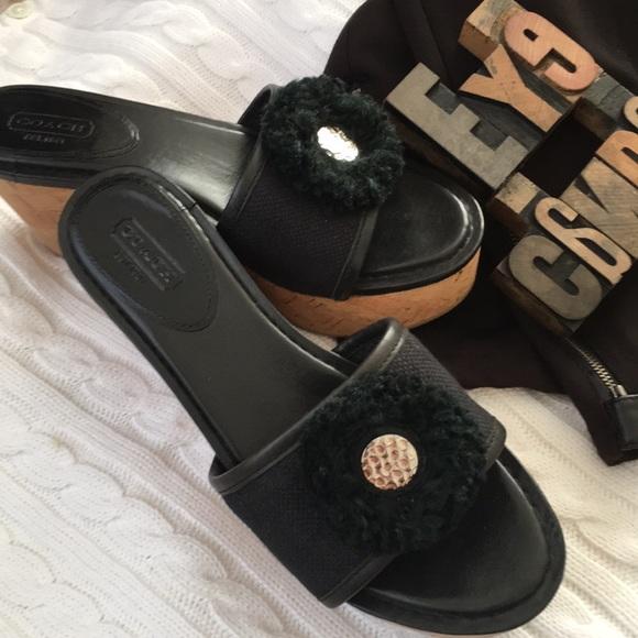 3bcab1a7cc Coach Shoes   Jazmin Cork Platform Wedge Sandals   Poshmark